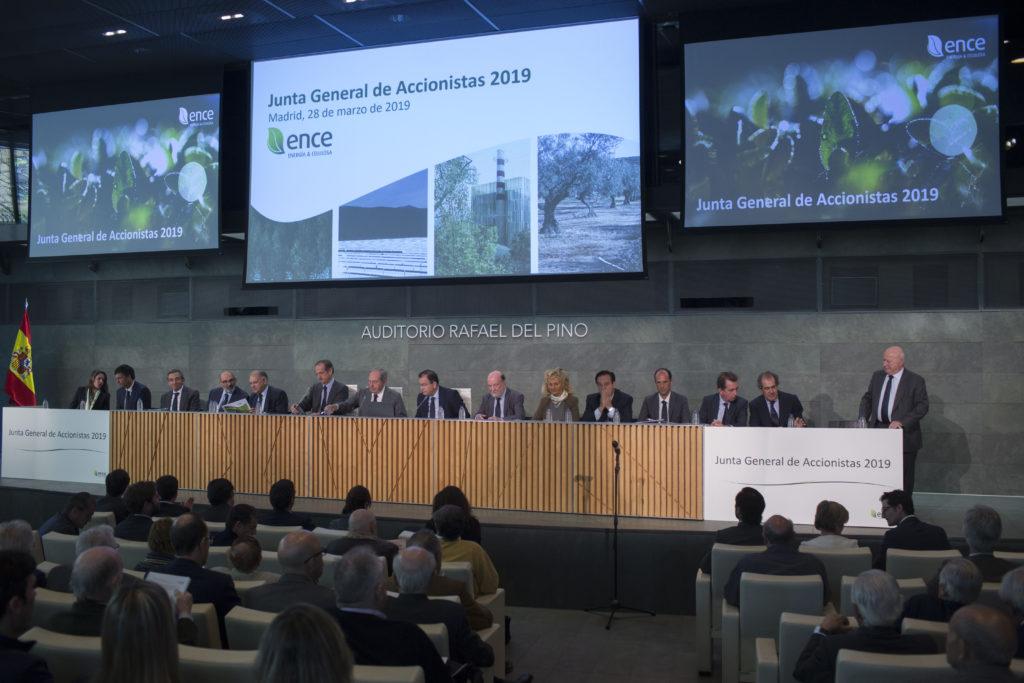 La Junta General de Accionistas de Ence aprueba un dividendo complementario de 0,054 euros por acción