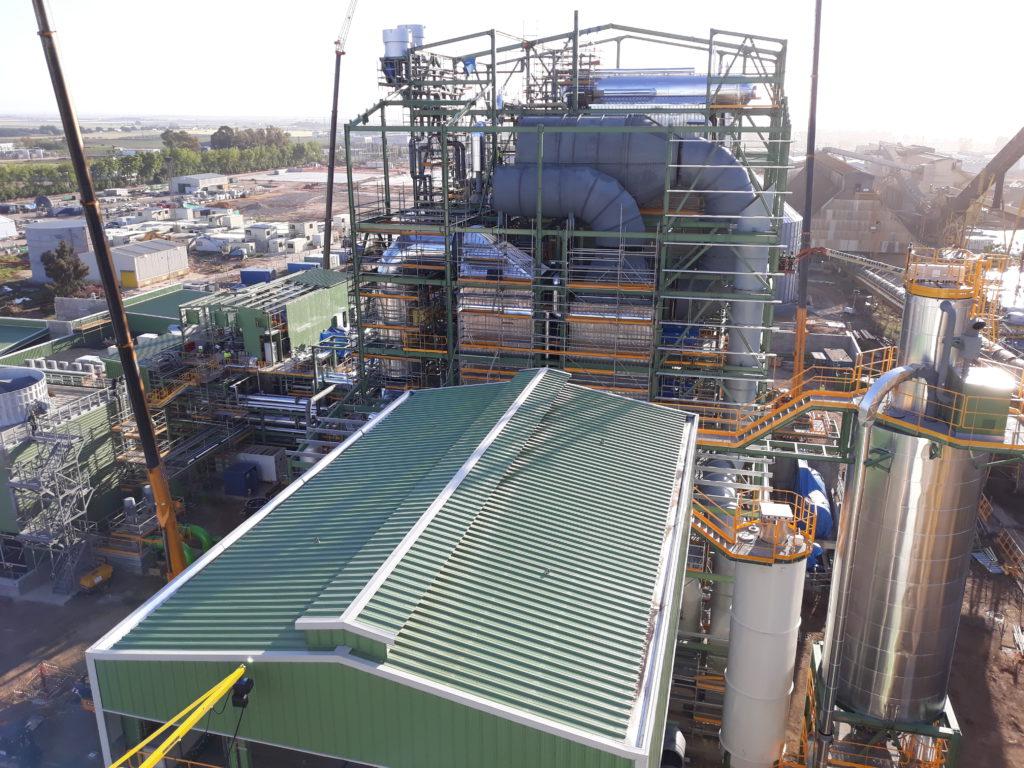 La nueva planta de 46 MW de Ence en Huelva aporta su primer megavatio de energía a la Red Eléctrica