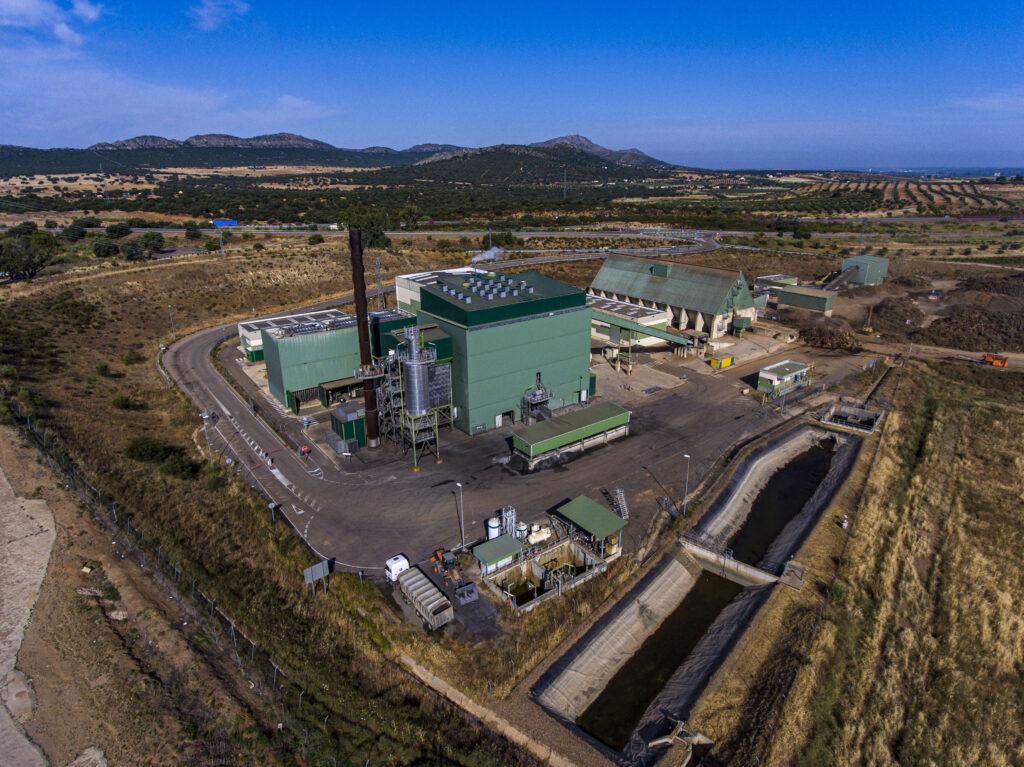 La planta de Ence en Extremadura genera la energía renovable suficiente para cubrir las necesidades de más de 120.000 personas